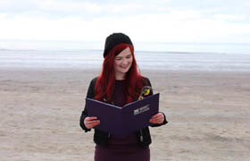 Naming Ceremony on Scottish Beach